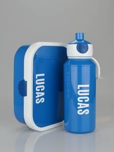 Bilde av Matboks og flaske - blå